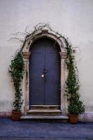 puerta de hierro con arco foto