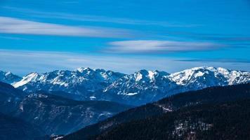 vistas alpinas de invierno foto