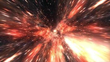 loop blu arancione iperspazio tunnel spazio tempo vortice video