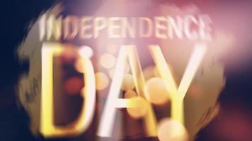 titre de lumière flare bokeh brillant doré fête de l'indépendance video