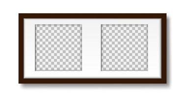 Photo frame with passepartout on the wall mockup vector