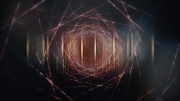 Quantencomputer futuristische filmische Titel-Banner-Loop-Animation video