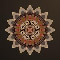 Geometric flourish design vector