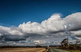 Big Blue Sky and White Clouds photo