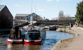 Two Barges at the Lock photo