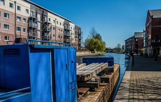 Blue Barge in Sunshine photo