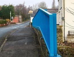 Herrajes azules en el puente foto