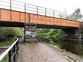 brown metal bridge photo