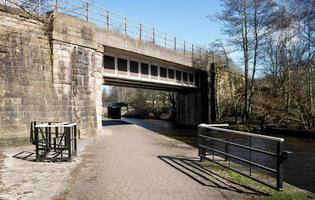 Towpath and Stone Bridge photo