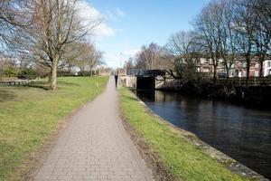 Straight Towpath and Bridge photo