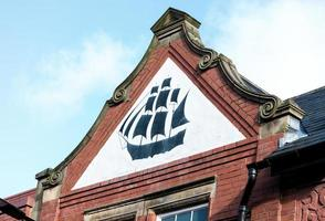 Black Ship with Red Brick photo