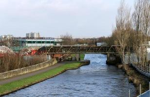 Bridge Carrying Pipes over the Canal photo