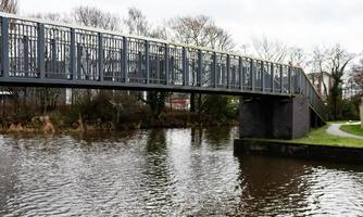 Grey Metal Footbridge photo