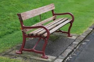small park bench photo