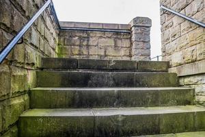 Stone Steps with Green Algae photo