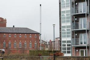 Industrial Chimney and Flats photo