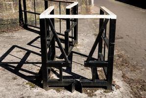 puerta de bicicleta de metal foto