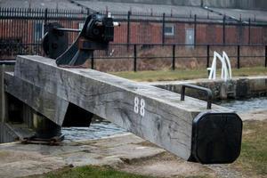 Wooden Lock Gate Beam photo