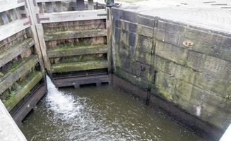 Lock Gates with Running Water photo