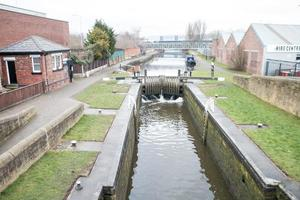 Lock on the Leeds Liverpool Canal photo