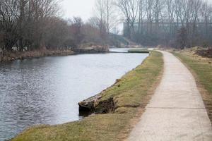Paved Towpath and Canal photo
