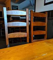 two wooden chairs photo