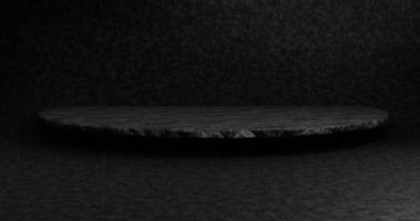Empty black podium for display product photo