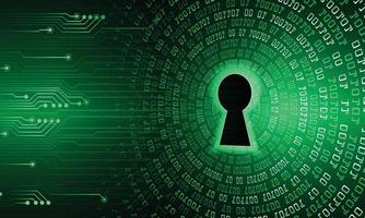 Key hole on digital cyber security background vector