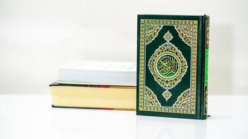 Islamic Concept Isolated close up the holy Quran photo