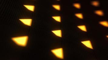 dez segundos com contagem regressiva de painel digital de LED com número dourado video