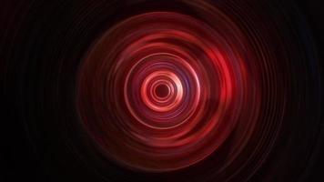 Bright neon red circular wave hypnotic loop animation video
