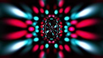 visuele kleurrijke bokeh vj fase licht hypnotische lus video
