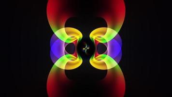 Loop abstract animation colorful neon fractal art transformation video