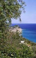 Ligurian coast of varigotti in Italy photo