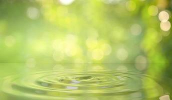 Fondo de gota de agua verde en la naturaleza foto