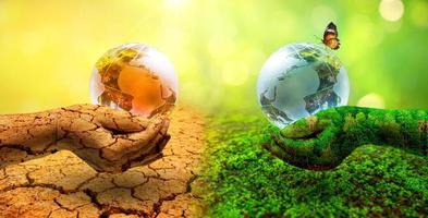Concept of environmental conservation and global warming photo
