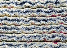 Denim and cotton chenille carpet, texture fluffy photo