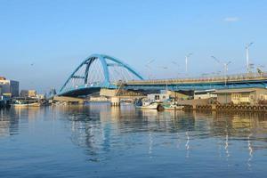 Seoul, Korea 2016- Bridge over river at fishing village in Korea photo