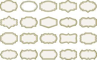 set of vintage frames and labels vector