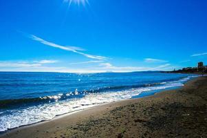 beach and sunbeams photo