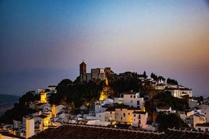 Rock of Casares in the sunset photo