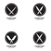 The crossed knives icon vector