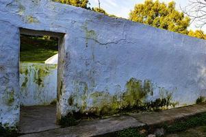 Rothen wall en el baño romano foto