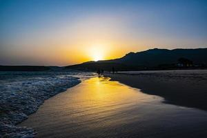 Sunset in Bolonia photo