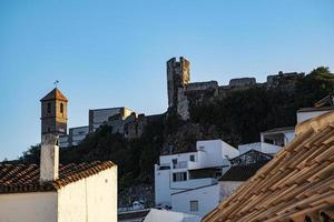 Castle of Casares on top of the rock photo