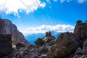 Parallel lines on the Dolomite peaks photo
