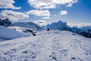 White dolomite valley photo