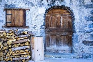 Rustic wooden door photo