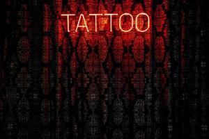 Tattoo neon light photo