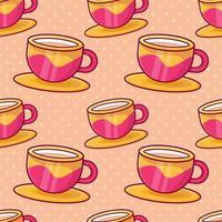Ilustración de patrones sin fisuras de café con leche vector